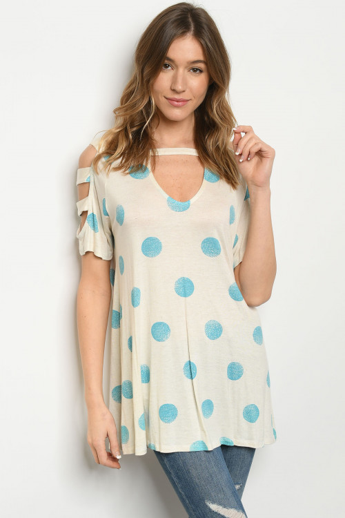 C26-A-2-T7971 OATMEAL BLUE TOP 2-2-2