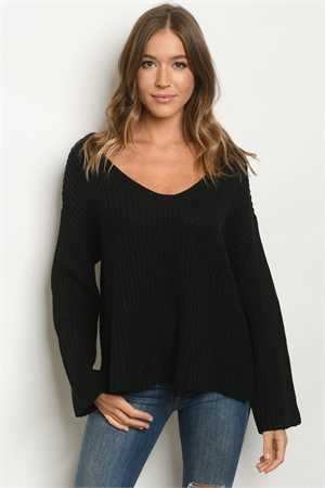 S25-8-1-S0319 BLACK SWEATER 3-2-1