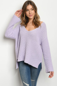 S25-8-1-S0319 LAVENDER SWEATER 3-2-1