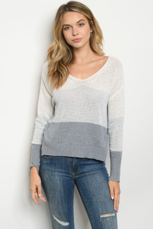 S9-2-2-T0304 BLUE INDIGO SWEATER 3-2-1