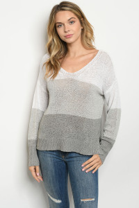 S10-20-2-T0304 IVORY GRAY SWEATER 4-2-1