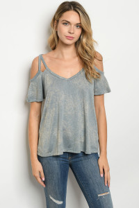 C81-A-2-T3000 INDIGO WASHED TOP 2-2-2