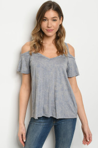 C85-B-3-T3000 BLUE WASHED TOP 2-2-2