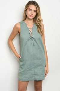 S20-12-5-D1192 DENIM WASH DRESS 2-2-2