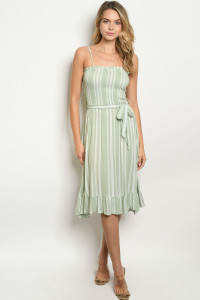 S23-12-2-D6146 MINT STRIPES DRESS 2-2-2