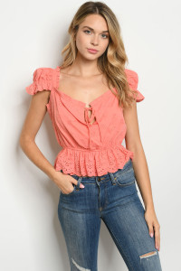 S23-13-4-T4511 CORAL TOP 2-2-2