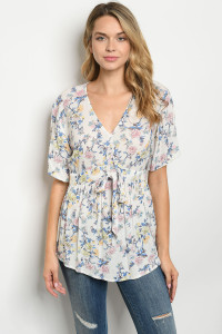 S23-12-4-T6098 OFF WHITE FLORAL TOP 2-2-2