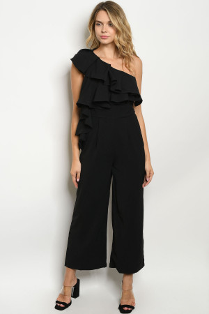 S18-11-1-J0216 BLACK JUMPSUIT 3-2-1