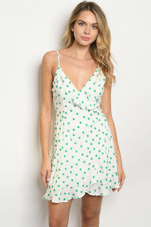 S12-8-4-D21147 OFF WHITE WITH DOTS DRESS 3-2-1