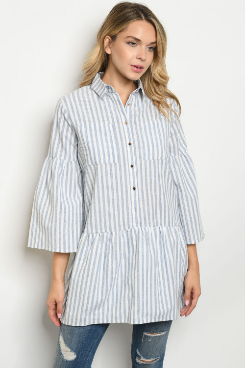 S22-6-3-D10 BLUE STRIPES TOP 2-2-2
