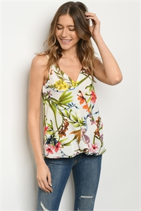 C52-B-1-T51358E OFF WHITE PRINT TOP 2-2-2