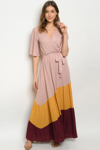 Z-B-D90532 BLUSH WINE DRESS 3-2-1