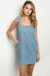 S23-10-4-D6205 BLUE DENIM DRESS 2-2-2