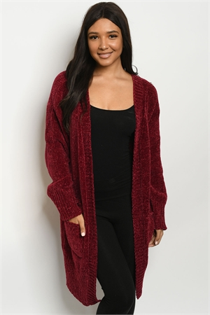 S25-8-1-C5505 BURGUNDY SWEATER 2-2-2