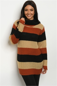 S15-1-2-S5506 RUST BLACK SWEATER 2-2-2
