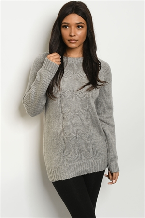 S23-13-1-S5504 GRAY SWEATER 2-2-2