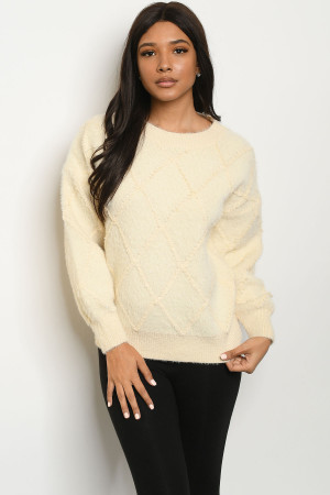 S19-1-2-S0006 IVORY SWEATER 3-2-1
