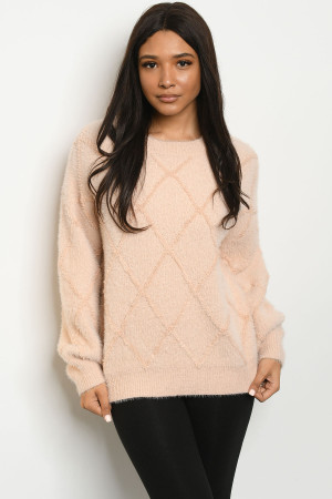 S19-1-1-S0006 BLUSH SWEATER 3-2-1