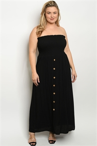 C63-A-2-D3160X BLACK PLUS SIZE DRESS 2-2-2
