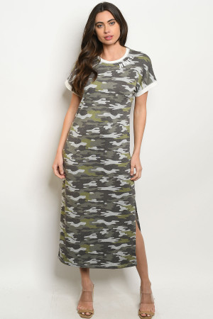 S13-11-2-D3010 GRAY OLIVE ARMY DRESS 2-2-2