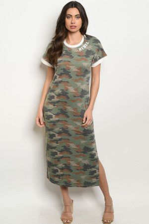 S13-9-1-D3010 GREEN BROWN ARMY DRESS 2-2-2