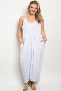 S14-6-3-D5883X WHITE PLUS SIZE DRESS 2-2-2