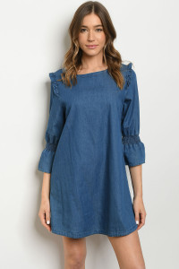 S23-6-4-D181205 DARK BLUE DENIM DRESS 2-2-2