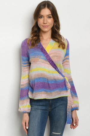 S14-3-1-T95022 PINK MULTI TOP 3-2-1