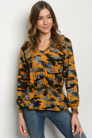 S10-15-3-T2020 MUSTARD CAMOUFLAGE TOP 2-2-2