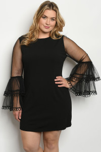 S13-2-2-D60143X BLACK PLUS SIZE DRESS 2-2-2
