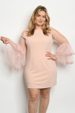 S16-5-1-D60143X BLUSH PLUS SIZE DRESS 2-2-2