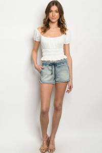 S16-10-2-S3641 DENIM WASH SHORTS 3-2-2
