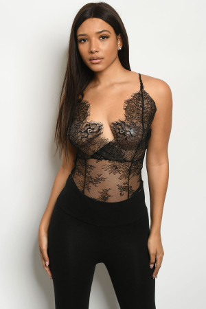 S14-12-4-B3165 BLACK BODYSUIT 3-2-1