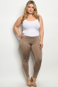 C85-A-1-L1070X KHAKI PLUS SIZE LEGGINGS 2-2-2