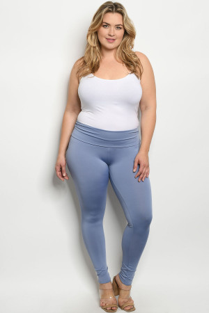 C85-A-1-L1070X LAVENDER PLUS SIZE LEGGINGS 2-2-2