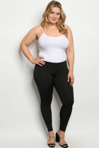 C85-A-1-L1070X BLACK PLUS SIZE LEGGINGS 2-2-2