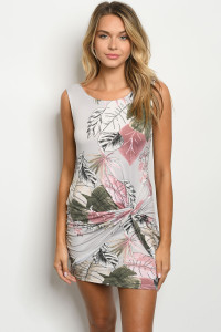 S19-11-5-D11289 GRAY MAUVE PRINT DRESS 2-2-2