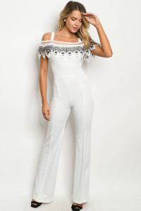 Z-B-J5563 WHITE BLACK JUMPSUIT 2-2-2