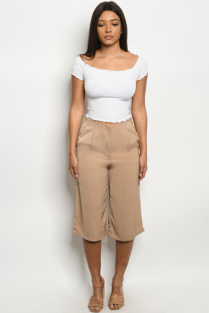 S10-19-1-C1270340 TAN CAPRI PANTS 1-1-3