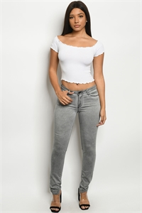 S8-5-2-P175 GRAY DENIM PANTS 2-3-3-2-1