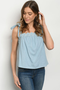 S9-3-1-T7380 BLUE DENIM TOP 2-2-2