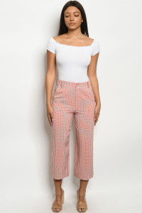 S10-19-1-P6181 MAUVE CHECKERED PANTS 3-2-2