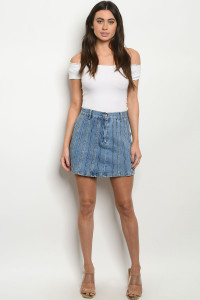 S13-10-2-S238 BLUE DENIM SHORT 3-2-1