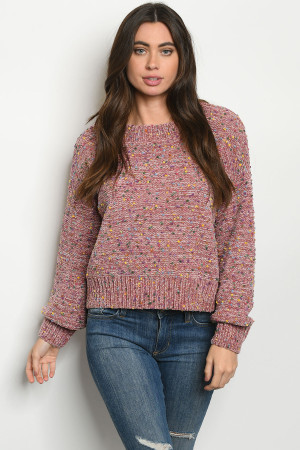 S25-8-1-S0057 ROSE MULTI SWEATER 3-2-1