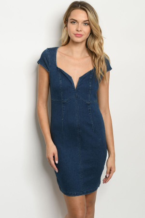 S15-11-2-D1210 DARK BLUE DENIM DRESS 3-2-2