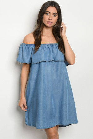 S24-1-1-D10156 BLUE DENIM DRESS 2-2-2