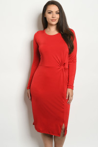 C33-A-1-D1866X RED PLUS SIZE DRESS 2-2-2