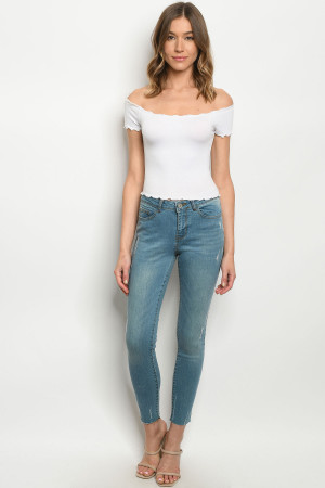 S13-10-2-J0374 BLUE WASH DENIM JEANS 1-1-2-2-2-2-1-1