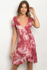 S13-4-1-D191014 MAUVE TIE DYE DRESS 2-2-2
