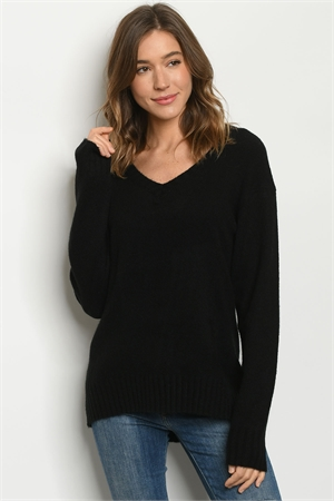 S12-11-1-S2415 BLACK SWEATER 2-2-2